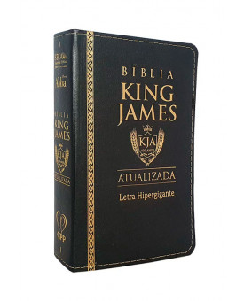 Bíblia Sagrada | King James Atualizada | Letra Hipergigante | Capa PU | Preta