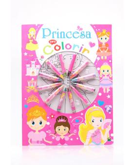 Cores em Ação!   Princesa para Colorir   Brasileitura