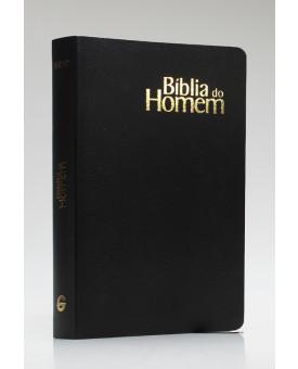 Bíblia do Homem | NVI | Letra Média | Semi-Luxo | Preta