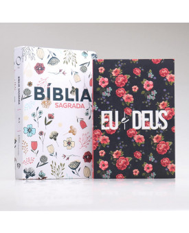 Kit Bíblia RA Flowers Branca + Eu e Deus Rosas | Mulher Virtuosa