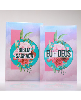 Kit Bíblia Harpa e Corinhos Slim Colagem + Eu e Deus | Orar e Vencer