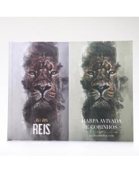 Kit Bíblia ACF Capa Dura Rei dos Reis + Harpa Avivada e Corinhos Rei dos Reis | Louvando ao Senhor