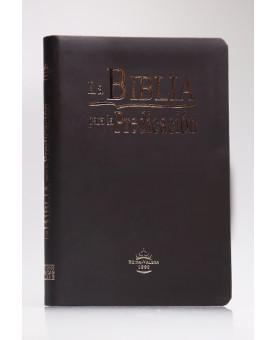 La Biblia Para la Predicación - A Bíblia do Pregador   Reina Valera 1960   Letra Normal   Capa PU   Café