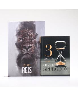 Kit Bíblia ACF Capa Dura Rei dos Reis + Devocional 3 Minutos com Charles H. Spurgeon | Vivendo com Propósito