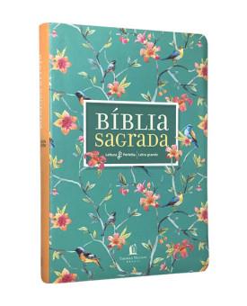 Bíblia Sagrada | NVI | Leitura Perfeita | Letra Grande | Couro Soft | Flores