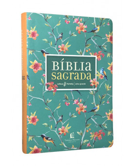 Bíblia Sagrada | NVI | Leitura Perfeita | Letra Grande | Capa Sintética | Flores