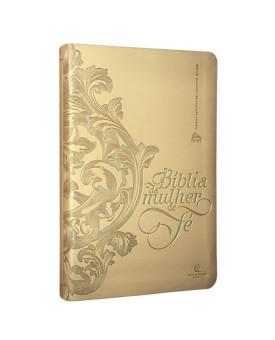 Bíblia da Mulher de Fé | NVI | Letra Normal | Capa Sintética | Dourado