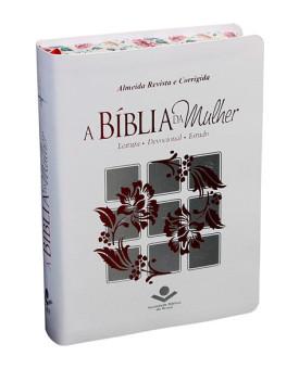 A Bíblia da Mulher | RC | Média | Couro Bonded | Branca