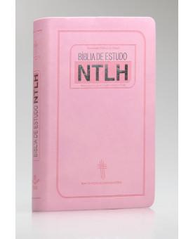 Bíblia de Estudo | NTLH | Letra Média | Luxo | Rosa
