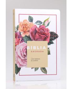 Bíblia Sagrada | RC | Letra Grande | Semi-Luxo | Floral