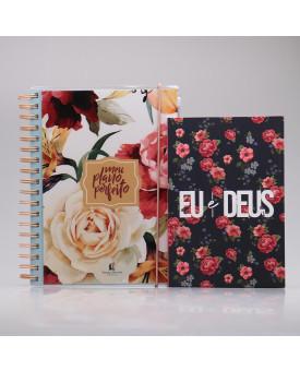 Kit Meu Plano Perfeito Rosas + Eu e Deus Rosas | Tempo Diário