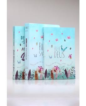 Kit Bíblia RC Jardim Secreto + Livro de Oração + Devocional Semanal | Mulher Virtuosa