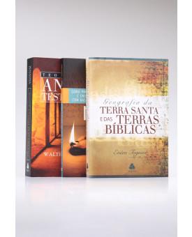 Kit Geografia da Terra Santa + Teologia do Antigo Testamento + Como Pregar e Ensinar | Homem Sábio