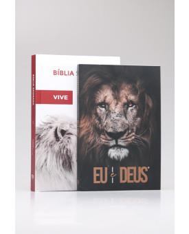 Kit Bíblia ACF Ele Vive + Livro de Oração | Homem Sábio