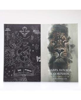Kit Bíblia ACF Capa Dura Sola Scriptura + Harpa Avivada e Corinhos Rei dos Reis | Louvando ao Senhor