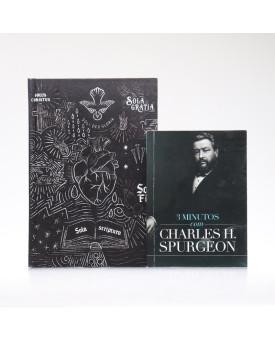 Kit Bíblia ACF Capa Dura Sola Scriptura + Devocional 3 Minutos com Charles H. Spurgeon | Vivendo com Propósito