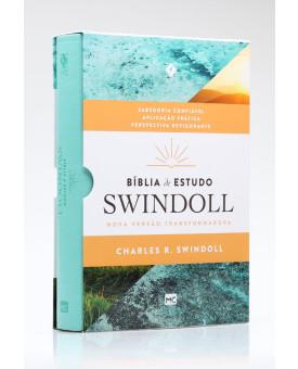 Bíblia de Estudo Swindoll | NVT | Letra Grande | Capa Sintética | Aqua
