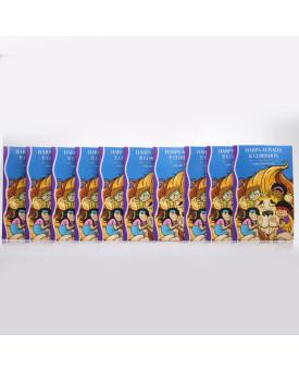 Kit 10 Harpas Avivadas e Corinhos   Brochura   Letra Hipergigante   Turminha Leão