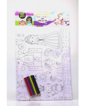 Livro-pôster para Colorir | Princesa | Brasileitura
