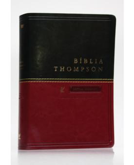 Bíblia de Estudo Thompson | AEC | Letra Grande | Luxo | Verde e Vinho | Índice