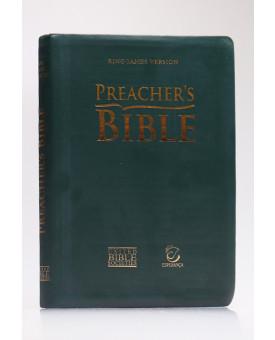 Preacher's Bible - Bíblia do Pregador | King James Version | Letra Normal | Capa PU | Verde