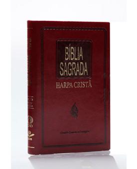 Bíblia Sagrada | RC | Harpa Cristã | Letra Normal | Luxo | Vinho