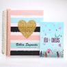 Kit Bíblia Anote Plus RC Coração Brilhante + Devocional Eu e Deus Jardim Secreto | Mulher de Fé