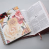 Kit Planeje Sua Vida   Meu Plano Perfeito Rosas + Bíblia Sagrada   RC   Flowers Branca