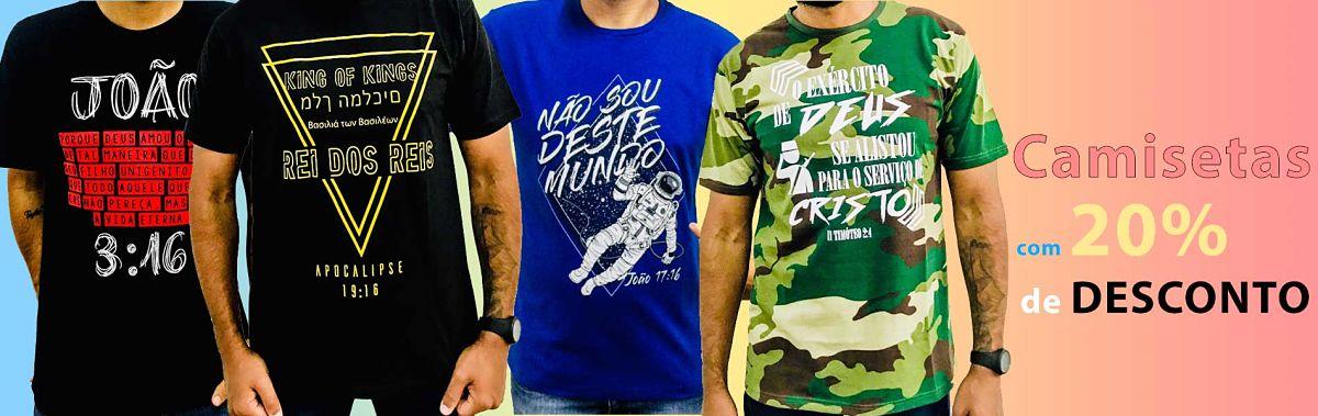 Camisetas com 20% de Desconto